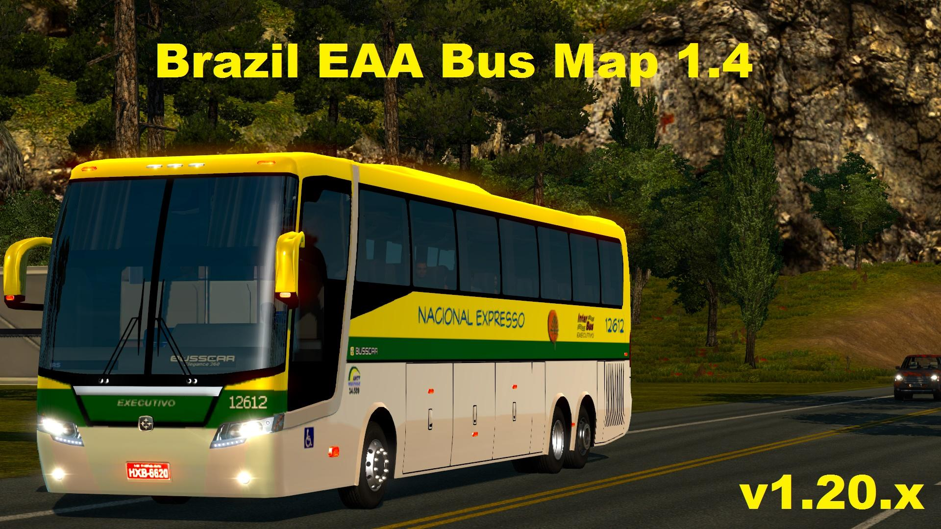 BRAZIL EAA BUS MAP 1 4 1 20 Mod  Euro Truck Simulator 2 Mods BRAZIL EAA BUS MAP 1 4 1 20 Mod