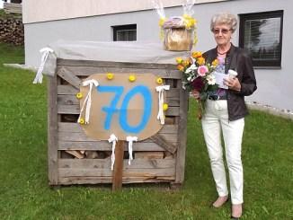 Theresia Rametsteiner ist 70