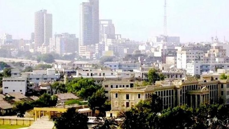 Downtown Karachi, Pakistan. Photo by Asjad Jamshed, Wikipedia Commons.