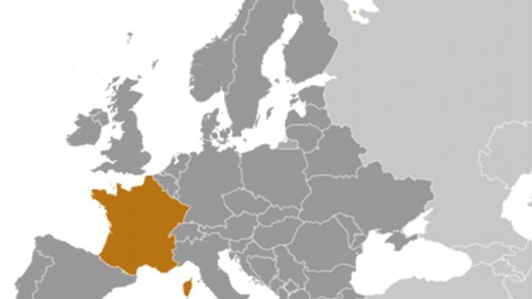 Location of France. Source: CIA World Factbook.
