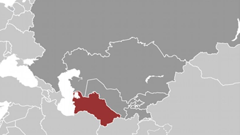 Location of Turkmenistan. Source: CIA World Factbook.