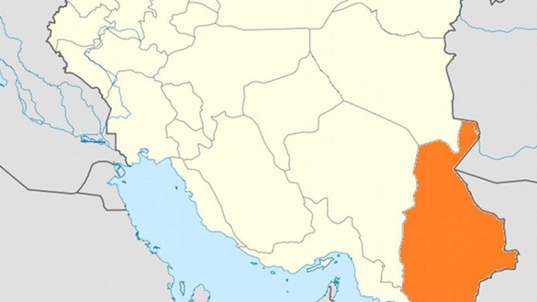Location of Sistan and Baluchestan within Iran. Source: Wikipedia Commons.