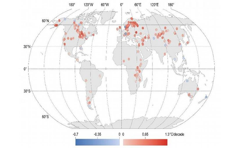 Global lakes warming up rapidly due to climate change