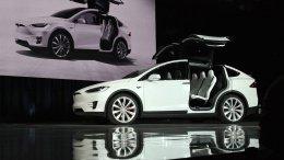 Tesla Model X at the market launch ceremony. Photo by Steve Jurvetson, Wikipedia Commons.