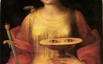 Pourquoi Sainte Lucie est-elle représentée portant ses yeux sur un plateau ?