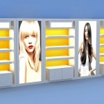 Portofino Display Wall Unit Lightbox Combo