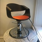 Curved Art Salon Styling Chair DK BR
