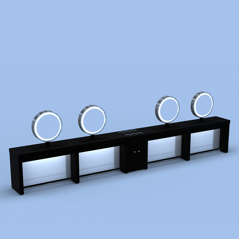 Color Application Table w:Round Mirrors