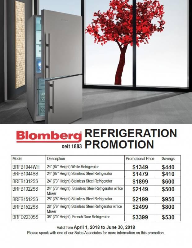 Blomberg Refrigeration Promotion