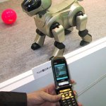 SONY Aibo robot dog remote controlled via FOMA 3G cell phone