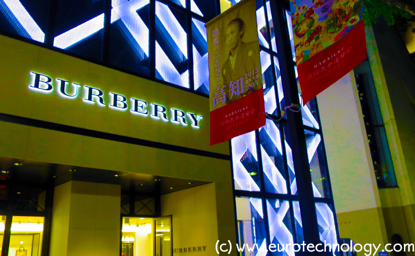 Burberry in Japan: breaking up with Sanyo Shokai. Sanyo Shokai pivots to Mackintosh. Burberry Blue Label and Black label pivot