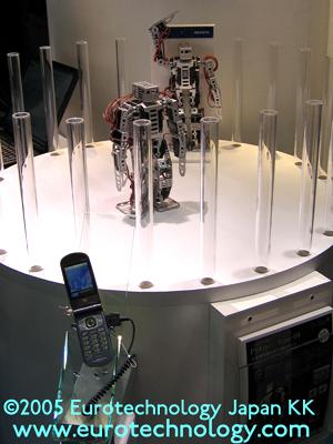Mobile phones control robots