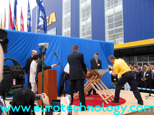 Opening ceremony for IKEA's store in Funabashi