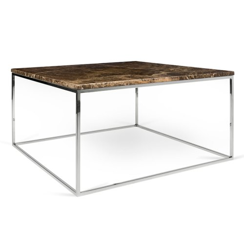 Sleek Call To Order Gleam Brown Marble Chrome Metal Base Square Coffeetable Gleam Brown Marble Chrome Coffee Table By Temahome Eurway Marble Coffee Table Cb2 Marble Coffee Table Cheap