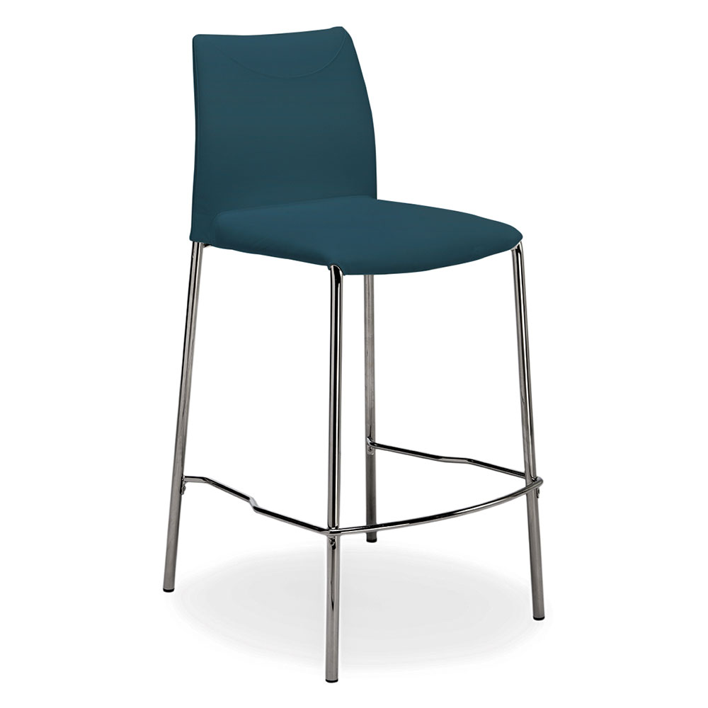 Call To Order  Ralls Blue Leather  Chrome Modern Bar Stool Blue Leather Bar Stools77