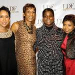 Judith Byrd (dinner chair), Jerri DeVard (dinner co-chair), Ursula Burns (honoree), Marva Smalls (dinner co-chair)
