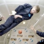 Stephen Hawking trying zero gravity