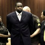 Former Detroit Mayor Kwame Kilpatrick is placed in handcuffs at his sentencing hearing in Detroit, Tuesday, May 25, 2010.