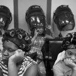 African American customers at Dominican hair salon