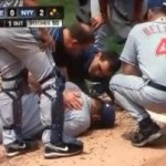 David Huff knocked out by A-Rod hit.
