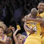 Ron Artest & Kobe Bryant's jubilation after Artest's game winning layup
