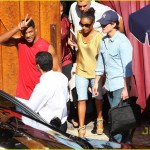 Tom Cruise, Will Smith and Jada Pinkett Smith leave a meeting at Saddle Ranch Chop House - July 12, 2010