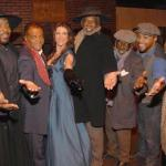 Ted Lange (2nd from right) and cast of 'Let Freedom Ring'