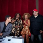 El Debarge, Shirley Murdock and Fred Hammond sing for an elated Donna Richardson Joyner