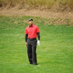 Tiger Woods looks up during regulation play during the final round of the Chevron World Challenge  December 5, 2010 in Thousand Oaks, California.