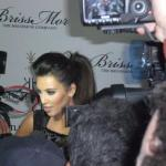 Kim Kardashian surrounded by photogs at The Grove/LA (photo by Kathy Williamson)