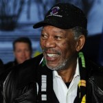 Morgan Freeman arrives with  the US delegation at the FIFA headquarters in Zurich, Switzerland, on Wednesday, Dec.  1, 2010, to present their bid to host the soccer World Cup 2022.