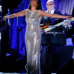 Whitney Houston performs at the pre-Grammy gala & salute