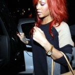 Singer Rihanna seen leaving the Giorgio Baldi restaurant after dinner in Santa Monica (March 20, 2011)