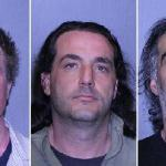 George Sawyer, 40, Brian Stewart, 39, and Robert Stewart 49, also known as the Connecticut Three Stooges.