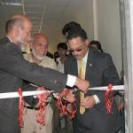 Wayne McDuffy at ribbon cutting ceremony in Heart, Afghanistan