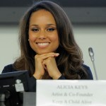 Alicia Keys attends the panal &quot;HIV Priorities for Positive Change - In Womans Words&quot; during the UN conference on AIDS at the United Nations on June 7, 2011 in New York City