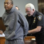 Rapper Ja Rule, whose real name is Jeffrey Atkins, is handcuffed in Manhattan Supreme Court, where he received a two-year jail sentence after pleading guilty to gun possession charges June 8, 2011.