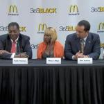 McDonald's 365Black 2011 awardees (l-r): Ruby Dee, Hank Thomas, Mary J. Blige, Ben Jealous & cathy Hughes