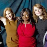 from left: Viola Davis, Jessica Chastain, Octavia Spencer, Emma Stone and Bryce Dallas Howard