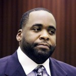 Former Detroit Mayor Kwame Kilpatrick appears in Wayne County Circuit Court for his sentencing Oct. 28, 2008 in Detroit
