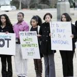 Duke's African American community protests study authored by University faculty that attempts to prove that African American students are not as smart as their GPA suggests.
