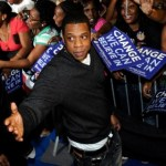 Jay-Z at the Last Chance for Change Rally in support of Barack Obama at Florida Memorial University on Nov. 2, 2008 in Miami Lakes, Fla