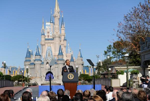 obama at disneyworld