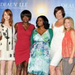"""The Help"" photocall at the 37th Deauville American Film Festival. (L-R) Emma Stone, Viola Davis, Octavia Spencer, and author Kathryn Stockett"
