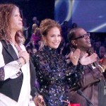 """American Idol"" judges Steven Tyler, Jennifer Lopez and Randy Jackson during the live results show, April 26, 2012"