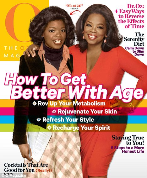 oprah (young and older o mag cover)