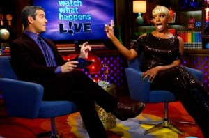 Andy Cohen of Bravo&#039;s &quot;Watch What Happens Live&quot; with guest NeNe Leakes