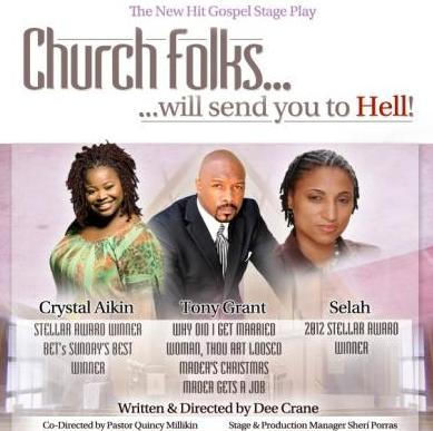 church folks will send you to hell (poster)