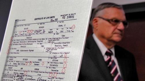joe arpaio & birth certificate