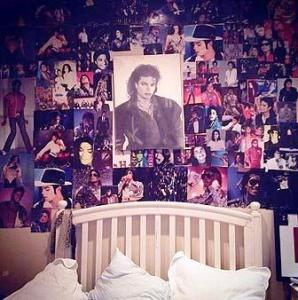 Paris Jackson&#039;s bedroom wall shrine to her father Michael Jackson